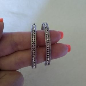 New Rhinestone Hoop Earrings